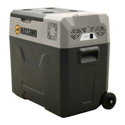 Electric Portable Cooler Mini Fridge Chest Ice Drinks With Wheels Camping 52 Qt