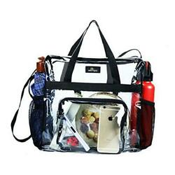 Clear Bag Stadium Approved Transparent See Through Clear Tote Bag for Black l $22.00