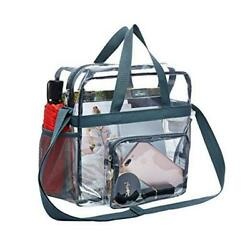Clear Bag Stadium Approved Transparent Tote Bag and See Through Tote Bag for $22.00