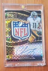 2020 Panini Select Chase Claypool Rookie Patch Auto Black Nfl Shield 1/1