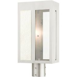 Livex Lighting 27416-91 Lafayette Post Light Or Accessories Brushed Nickel