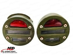 Willys Mb Ford Gpw Jeep Truck Military Cat Eye Rear Tail Light 4 Set Of 2 Unit