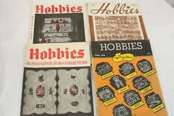 4 Hobbies Magazine For Collectors 1930's Dishes Stamps Glass Buttons Postcards