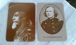Old West Collectors Series Post Card - Buffalo Bill Codyandkit Carson-new