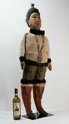 Antique Life Size Eskimo Inuit Doll - Early 20th Century