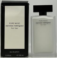 Narciso Rodriguez Pure Musc By Narciso Rodriguez 3.3 Oz Edp Women 95 Full Boxed