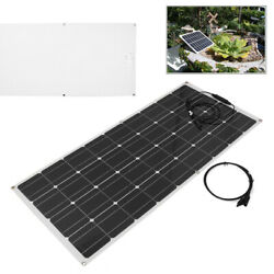 120w 18v Mono Solar Panel Battery Power Charger For Car Motorhome Boats Roof