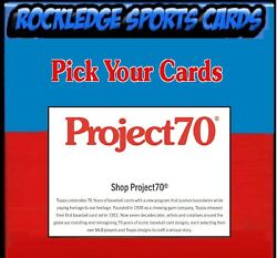 2021 Topps Project 70 Singles 222- Pick Your Cards