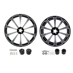 21 Front 18'' Rear Wheel Rim W/ Disc Hub Fit For Harley Touring Flhr Flhx 08-21