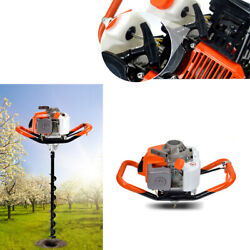 3200w 71cc Petrol Engine Post Hole Digger W/ 4 6 8 Earth Auger Drill Bits