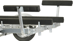 Boat Trailer Guides Regulated 2 Ft Bunk Guide On Roller Safety Protection Padded