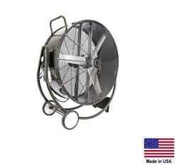 Drum Fan Commercial Dolly Mounted - 48 - 1 Hp - 115/230v - 1 Phase - 19,100 Cfm