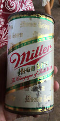 Flat Top Miller High Life Beer Can . Milwaukee Wis Wi Strong Beer Mn Indoor Can