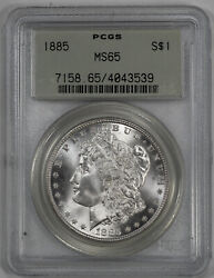 1885 Morgan Silver Dollar S1 Pcgs Ms 65 Mint Unc Ogh Old Green Holder 539