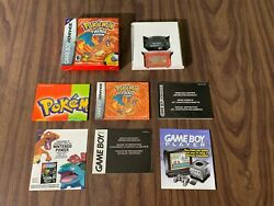 Pokemon Firered Gameboy Advance, Gba Complete In Box + Wireless Adapter