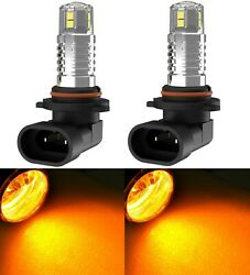 Led 20w 9005 Hb3 Amber Two Bulbs Head Light High Beam Show Replacement Halogen