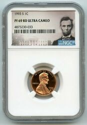 1993 S Lincoln Cent 1c Ngc Pf 69 Rd Ultra Cameo R6