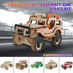 3d Puzzles 5 Type Car Series Jigsaw Educational Toy Kids Boys Chrismas Gifts