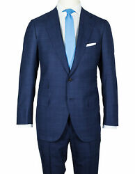Cesare Attolini Suit In Dark Blue With Glencheckmuster From Super 200and039s Wool
