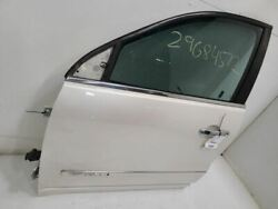 10-17 Gmc Acadia Driver Front Lh Left Door Vin J 11th Digit Limited White