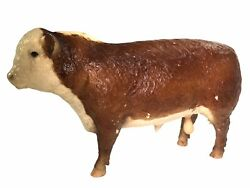 Breyer Polled Hereford Bull Cow Cattle - Large Vintage