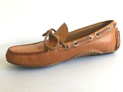 Martin Dingman Osage Saddle Leather Drivers Moccasins Loafers Shoes Size 9m