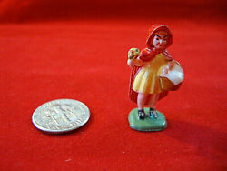 Vintage Fairykins Mother Goose Fairy Tale Red Ridding Hood Girl Marx Toys 1960's