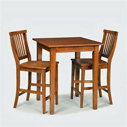 Home Style 5180-359 Arts And Crafts 3-piece Bistro Set Cottage Oak Finish