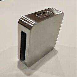 """Steam Head, 4"""" Square, Brushed Billet Stainless With Aromatherapy Pocket"""