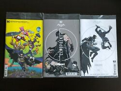 Batman/fortnite Zero Point 1-3 First Print Variants Sold Out. Bagged W Codes