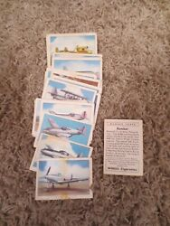 Wings Cigarettes - 39 Cards Of Modern Airplanes - Aircraft Promotion A