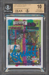Royals George Brett Signed 2020 Topps Project 2020 11 Card Pristine 10 Bas Slab