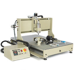 Usb 4 Axis Cnc 6090 Engraver Metal 3d Engraving Milling Machine 2.2kw+controller
