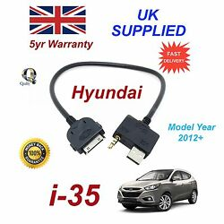 For Hyundai I35 Iphone 3gs 4 4s Ipod Usb And 3.5m Aux Audio Cable Model Year 2012+