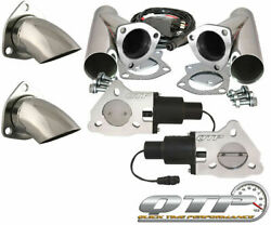 Qtp Qtec60cps-k1 Quick Time Performance 3 Dual Electric Exhaust Cutouts Wired