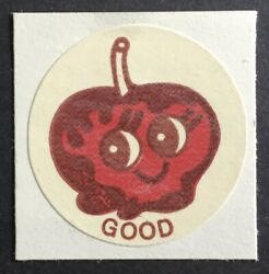 Vintage Ctp Matte Scratch And Sniff Stickers - Candy Apple - 1977 - Strong Scent