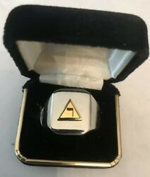 """New Men's Heavy Solid Stainless Steel """"masonic 14th Degree"""" Ring"""