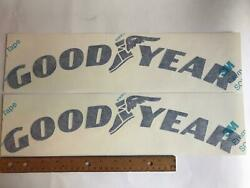 16 Goodyear Tires Curved Wingfoot Nascar Die-cut Drag Racing Sticker Decal Lot