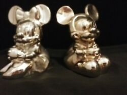 Disneyand039s Mickey And Mini Piggy Banks Gold Plated Reed And Barton