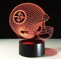 Pittsburgh Steelers Led Light - Collectable Lamp For Your Nfl Team. New