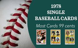 1978 Topps Baseball Complete Ur Set 1-249 Most 99 Cents Qty Discounts
