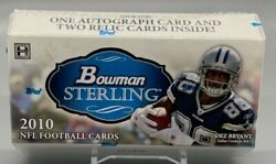 2010 Bowman Sterling Football Factory Sealed Hobby Mini Box 1 Autograph Card