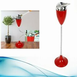 Stand Up Ashtray Vintage Style Standing Floor Stand Ashtray Red 75cm Height