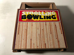 Vintage Tomy Strolling Bowling Game Wind Up Toy - Working No Box