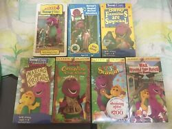 New Factory Sealed Barney And Friends Collection Lot Of 7 Vhs Time Life Classic