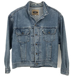 Leviand039s Jean Jacket Size Large Silvertab Made In Usa 100 Cotton Vintage Trucker
