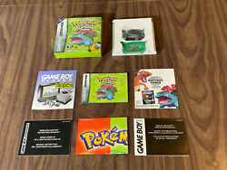 Pokemon Leafgreen Gameboy Advance, Gba Complete In Box With Wireless Adapter