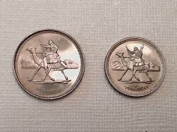 1967 Sudan 5 And 2 Qirsh Proof Coins - Only 7,834 Minted - Free Us Shipping