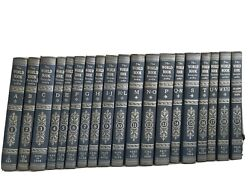 Vintage 1952 World Book Encyclopedia Complete Set 19 Volumes Blue With Silver