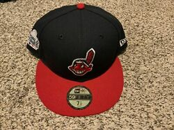 Cleveland Indians New Era 59fifty Fitted 7 1/2 2016 World Series Men's Hat Rare